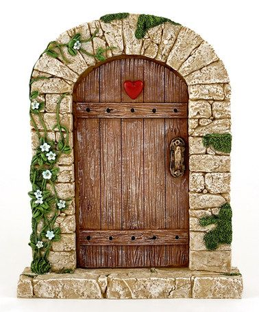 Another great find on #zulily! Large  Charming Cobblestone Fairy Door Décor #zulilyfinds