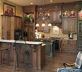 Shiloh cabinets - Acorn rustic maple with black glaze