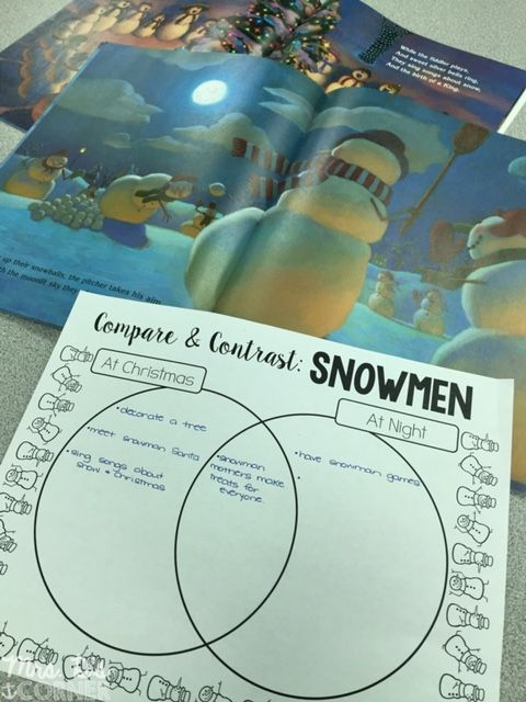 Compare and Contrast FREEBIE for Snowmen at Night and Snowmen at Christmas. Plus other lesson ideas and science experiments!