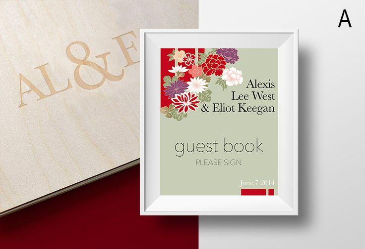 Stampa decorativa per nozze o festa di fidanzamento, Cartello a diversi temi, linea Japan di abcedesign su Etsy