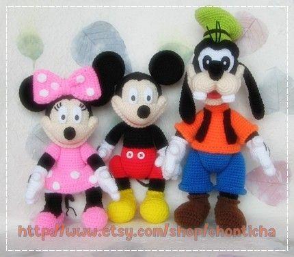 Free Goofy Crochet Pattern | Download Mickey Gang PDF crochet pattern by Chonticha on Etsy