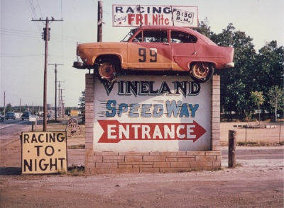 Vineland SpeedwayJersey Girls, Vineland Speedway, Neon Porcelain, Porcelain Painting