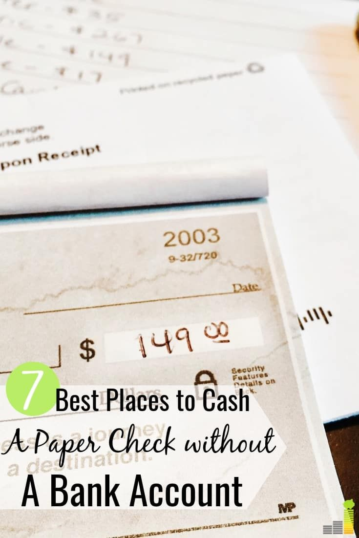 7 Best Places To Cash A Paper Check Besides Your Bank Frugal Rules Budget Template Free Frugal Budgeting Money
