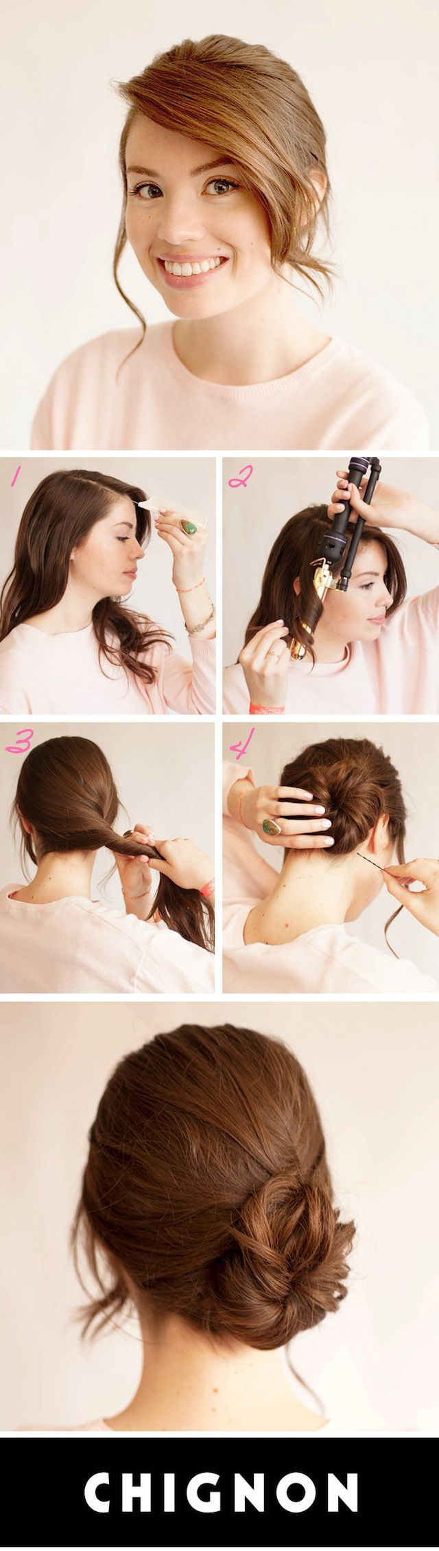 Learn How to Do This Messy Chignon All By Yourself | StyleCaster Infinity Scrolling