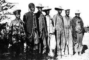 File:Herero chained.jpg Herero chained during the 1904 rebellion