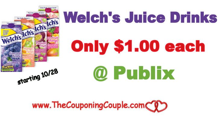Welch's Refrigerated Juice Drinks Only $1.00 each  @  Publix starting 10/28. Get ready to pick up some cheap juice when the new flyer starts *  Click the link below to get all of the details ► http://www.thecouponingcouple.com/welchs-refrigerated-juice-drinks-only-1-00-each-publix/ #Coupons #Couponing #CouponCommunity  Visit us at http://www.thecouponingcouple.com for more great posts!
