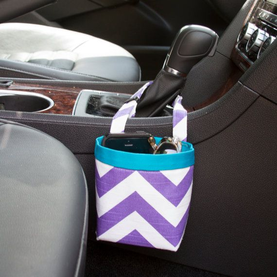 Car Cellphone CADDY Purple Chevron Cellphone Holder by GreenGoose #golf #car #cellphone
