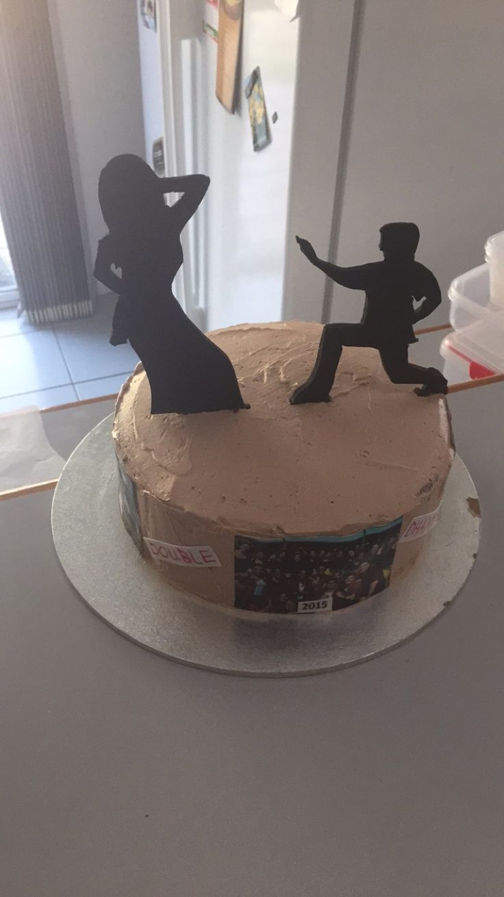 Silhouette Cake with Edible Photographs