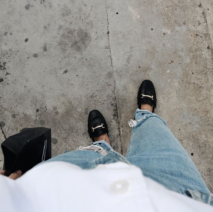 MY OFF-DUTY LOOK  style fashion loafers denim white shirt MAC