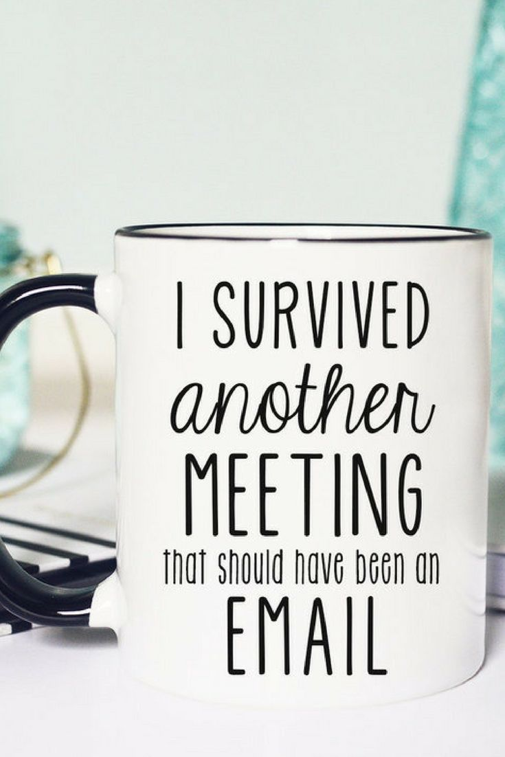 Etsy Survived A Meeting Mug Funny I Survived Another Meeting That