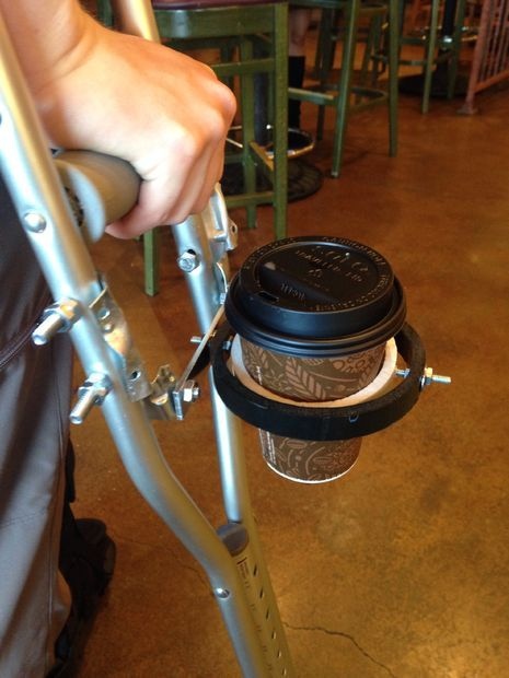 Your Crutches Cup holder DIY