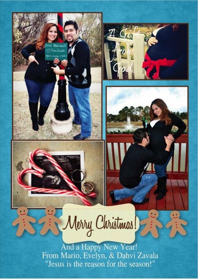 My maternity Christmas card!
