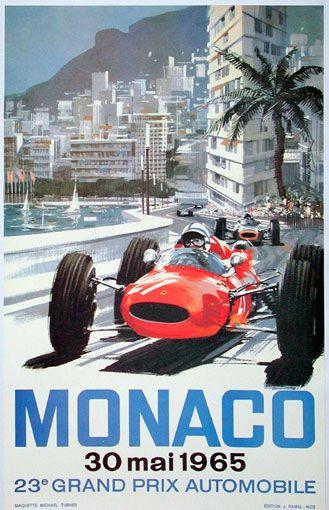 1965 Monaco Grand Prix poster.