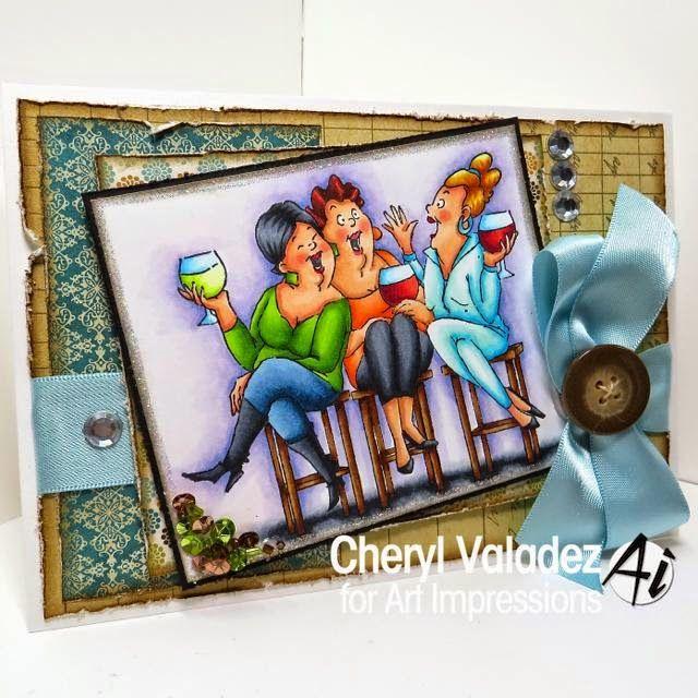 Ai Girlfriends ... Wine Tasters (U4387) set from Art Impressions.