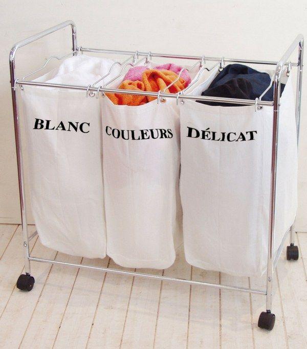Panier à linge 3 compartiments (blanc, couleurs, délicat)  http://www.homelisty.com/panier-a-linge/#paniers-a-linge-pliables