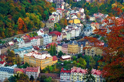 Karlovy Vary, Czech Republic--I love all the colours!