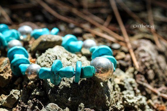 Turquoise necklace by LanguWorld on Etsy