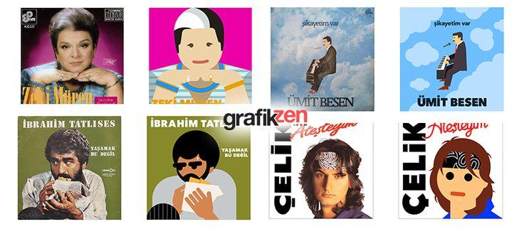 Nostalji Albüm Kapakları ile Yaratıcı GIF Çalışmaları