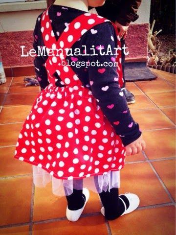 Tutorial costura: disfraz niña DIY Minnie Mouse
