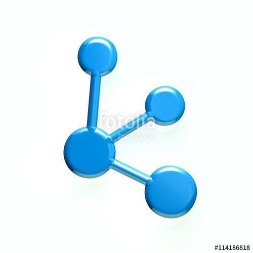 Network icon. 3D rendering illustration