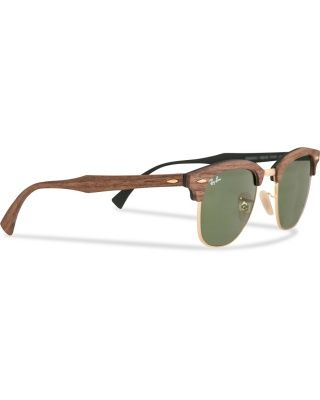 Ray-Ban Wayfarer Sunglasses Walnut Rubber Green/Green