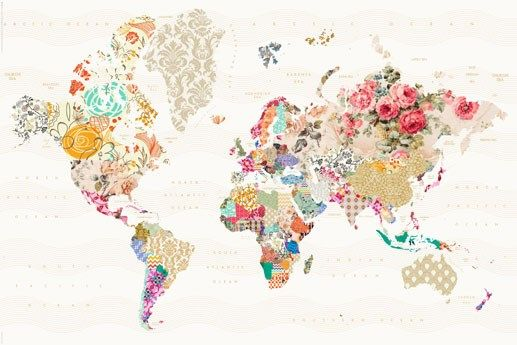 Love love love this!!!  New A World of Patterns Alternative World Map Poster | eBay