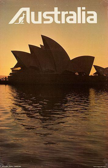 DP Vintage Posters - Australian Tourist Board Original Travel Poster Sidney Opera House Photo