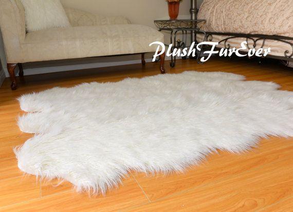 Mongolian Plush Fur Area Rug Sixto Sheepskin Pelts By PlushFurever