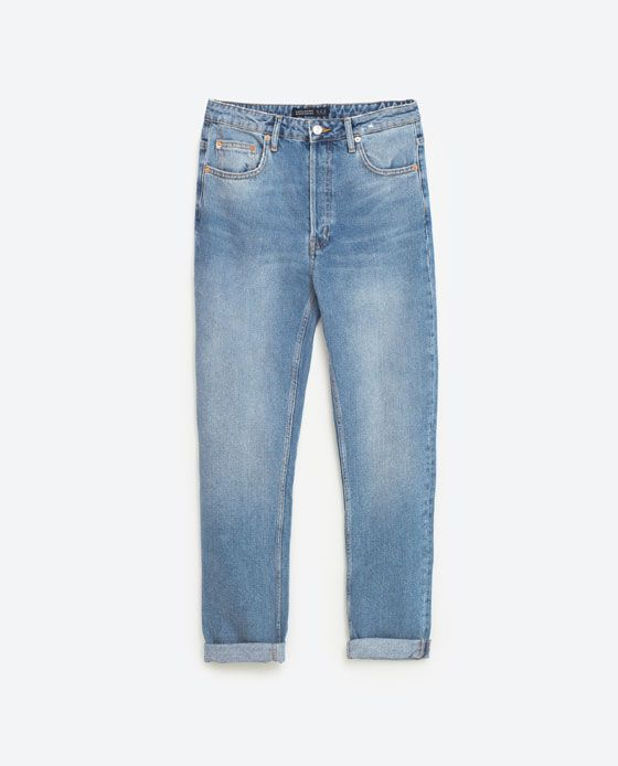 Image 8 of STRAIGHT CUT HIGH WAIST JEANS from Zara