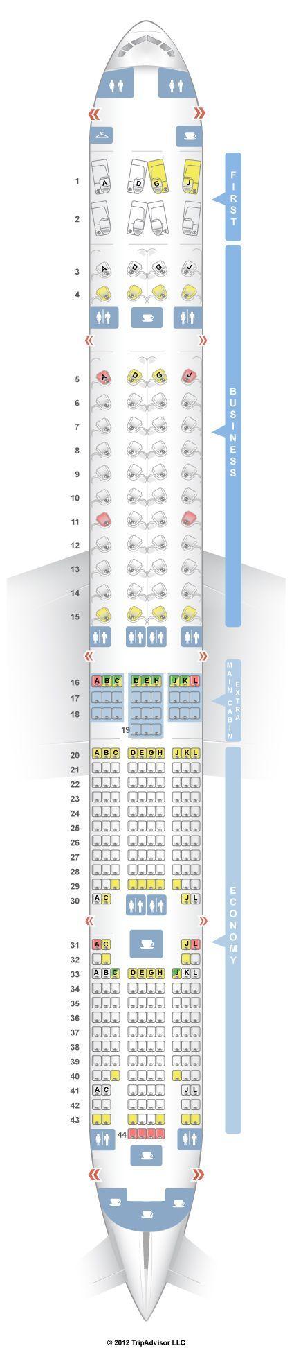 SeatGuru Seat Map American Airlines Boeing 777-300ER (77W):