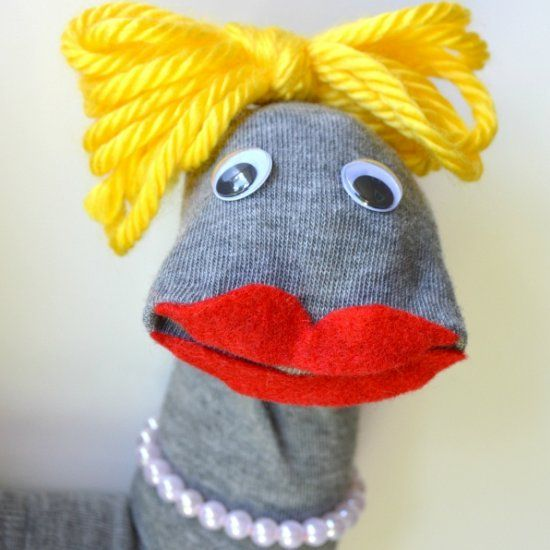 These adorable puppets come together in under 10 minutes, and provide countless hours of fun. So easy!