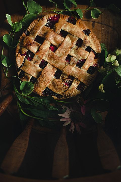tart blueberry plum pie.