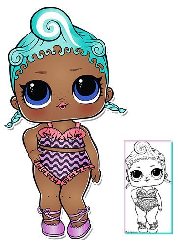 Precious Series 3 Wave 2 L.O.L Überraschungspuppe Malvorlagen   – LOL – #LOL #M… – LoL Dolls
