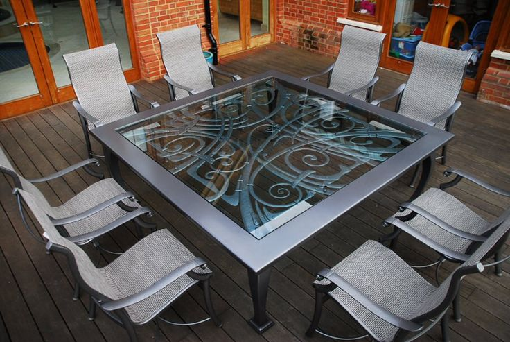Blacksmith made table, designed and made by West Country Blacksmiths. www.westcountryblacksmiths.co.uk