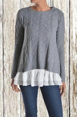 Fall // Cozy Layered Gray Sweater