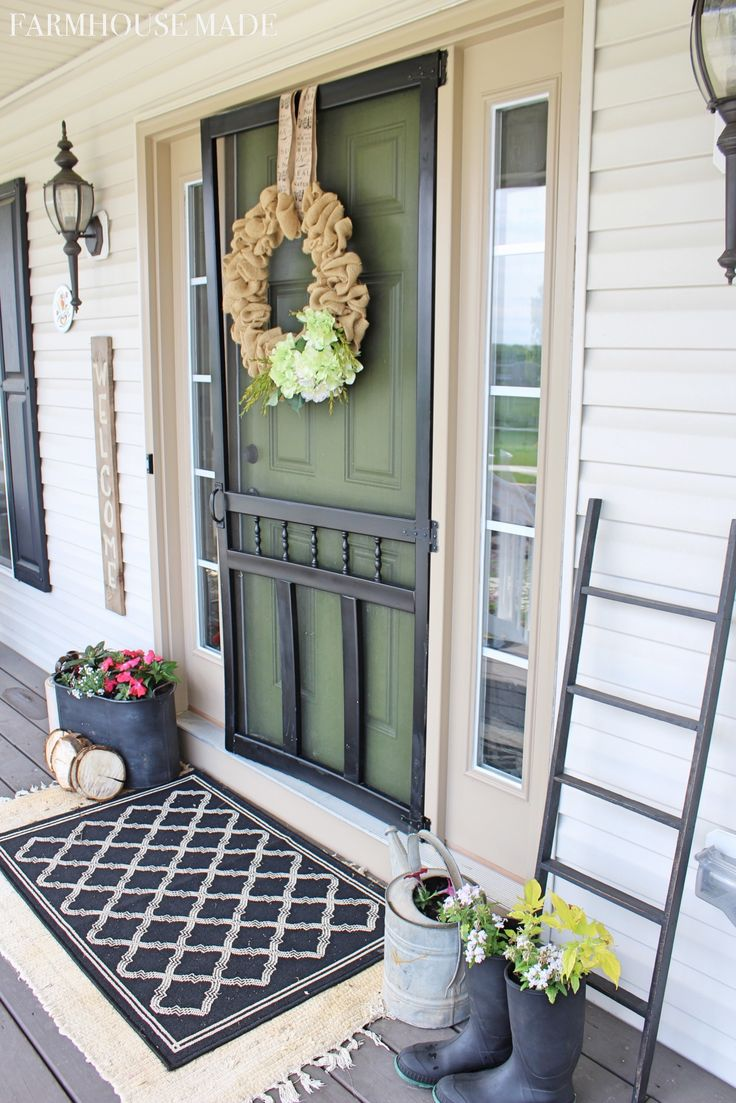 Springtime Farmhouse Porch Tour