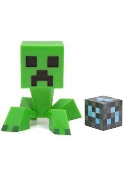 Figurine Minecraft Creeper avec Bloc de Diamant http://www.helpmedias.com/minecraft.php