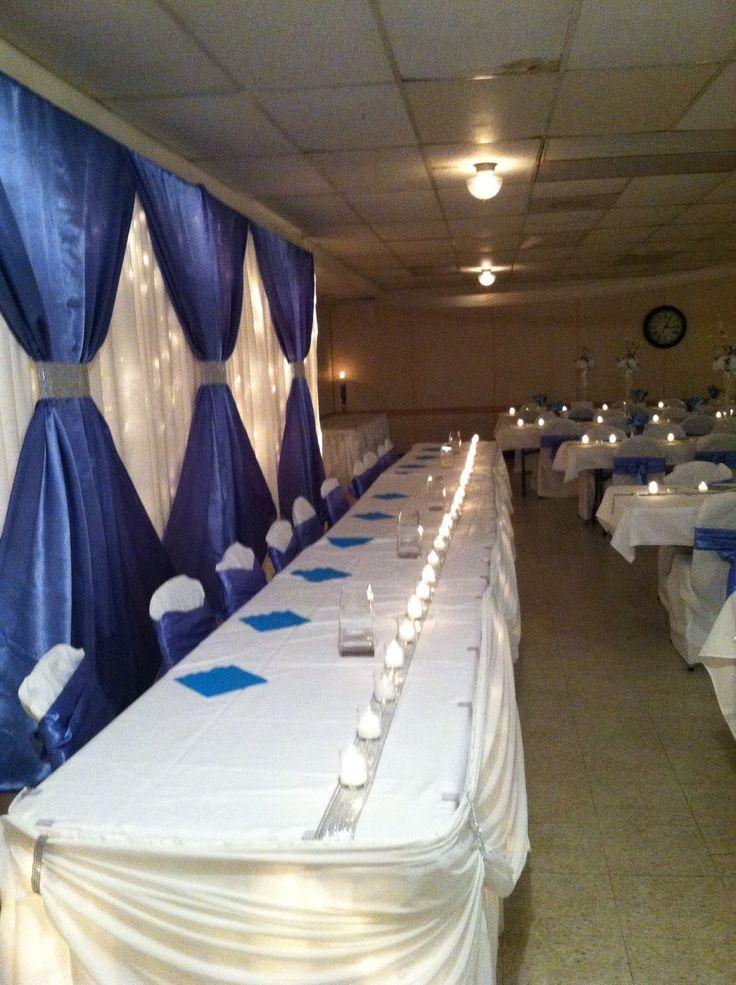 Purple Head Table Decorations