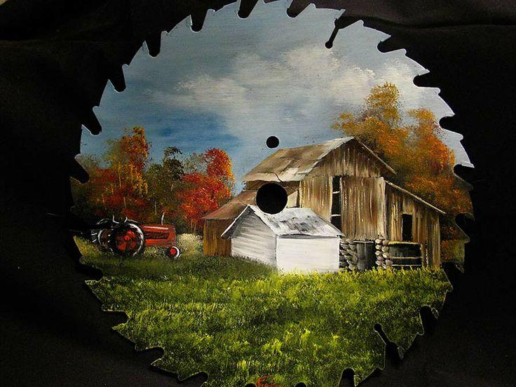 "Tractor & Barn Round Blade - 7-8"" | Joyces Creative Country"