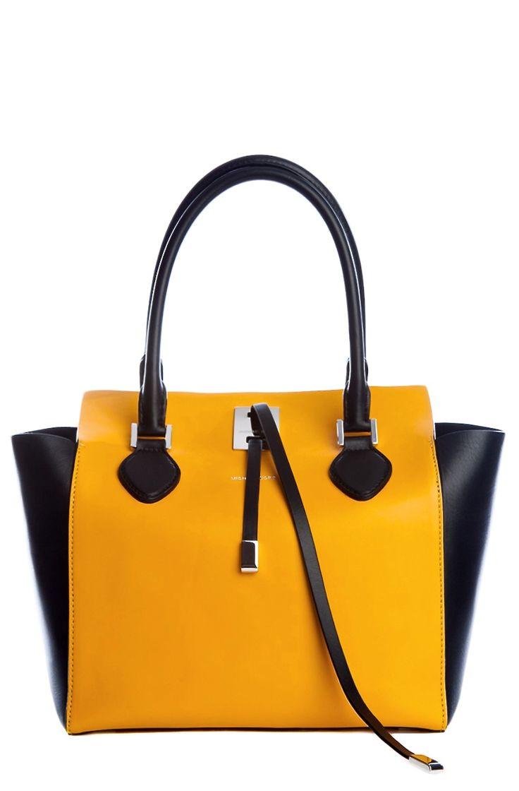 Black and yellow Michael Kors tote bag