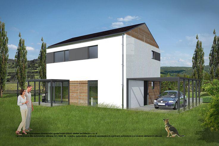 Dům je navržen v duchu tradiční architektury. Navržený typ zastřešení teras působí vzdušně, v kombinaci s popínavou zelení tvoří příjemná zákoutí pro posezení.