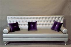 Happy Barok sofa Silver - 2700zł  200x70cm