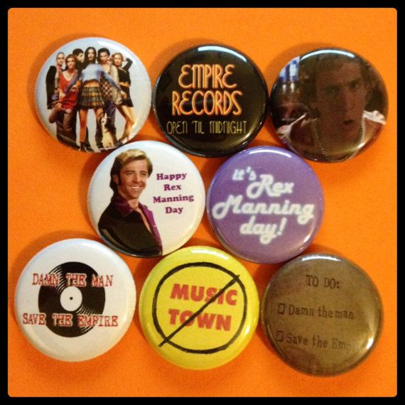 8 Brand New 1 Empire Records Button Set by DoNotWearShoes on Etsy