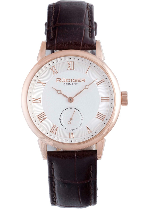 Price:$148.69 #watches Rudiger R3000-09-001L, Rudiger Leipzig Men's Round Silver Watch