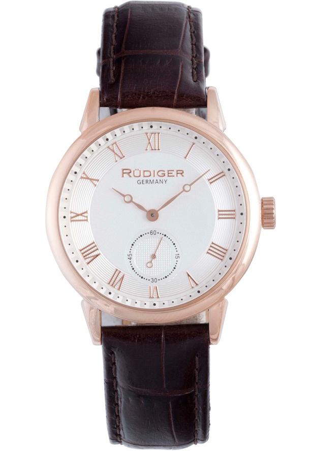 Price:$148.69 #watches Rudiger R3000-09-001L, Rudiger Leipzig Men's Round Silver Watch