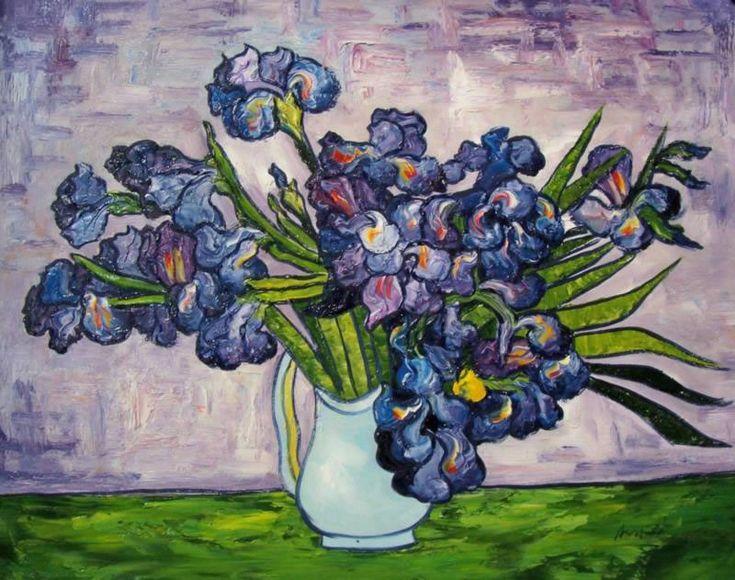 Vincent Van Gogh Oil Painting Purple Flowers All Things