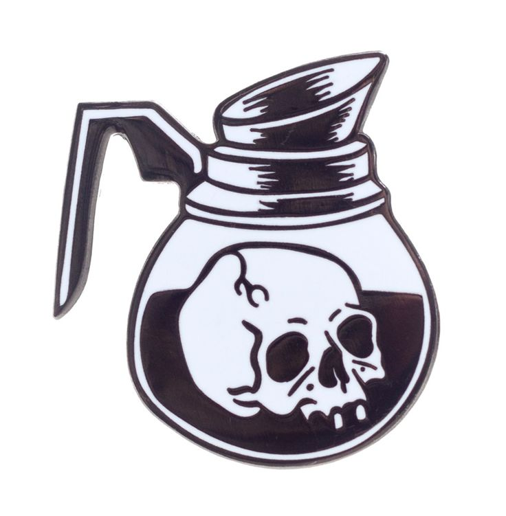 CAT COVEN COFFEE OF DEATH PIN