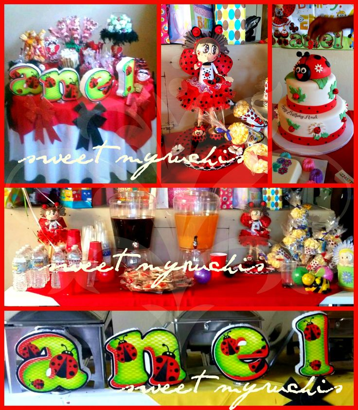 26 best images about fiesta ladybug on pinterest mesas - Decoracion mesas fiestas ...