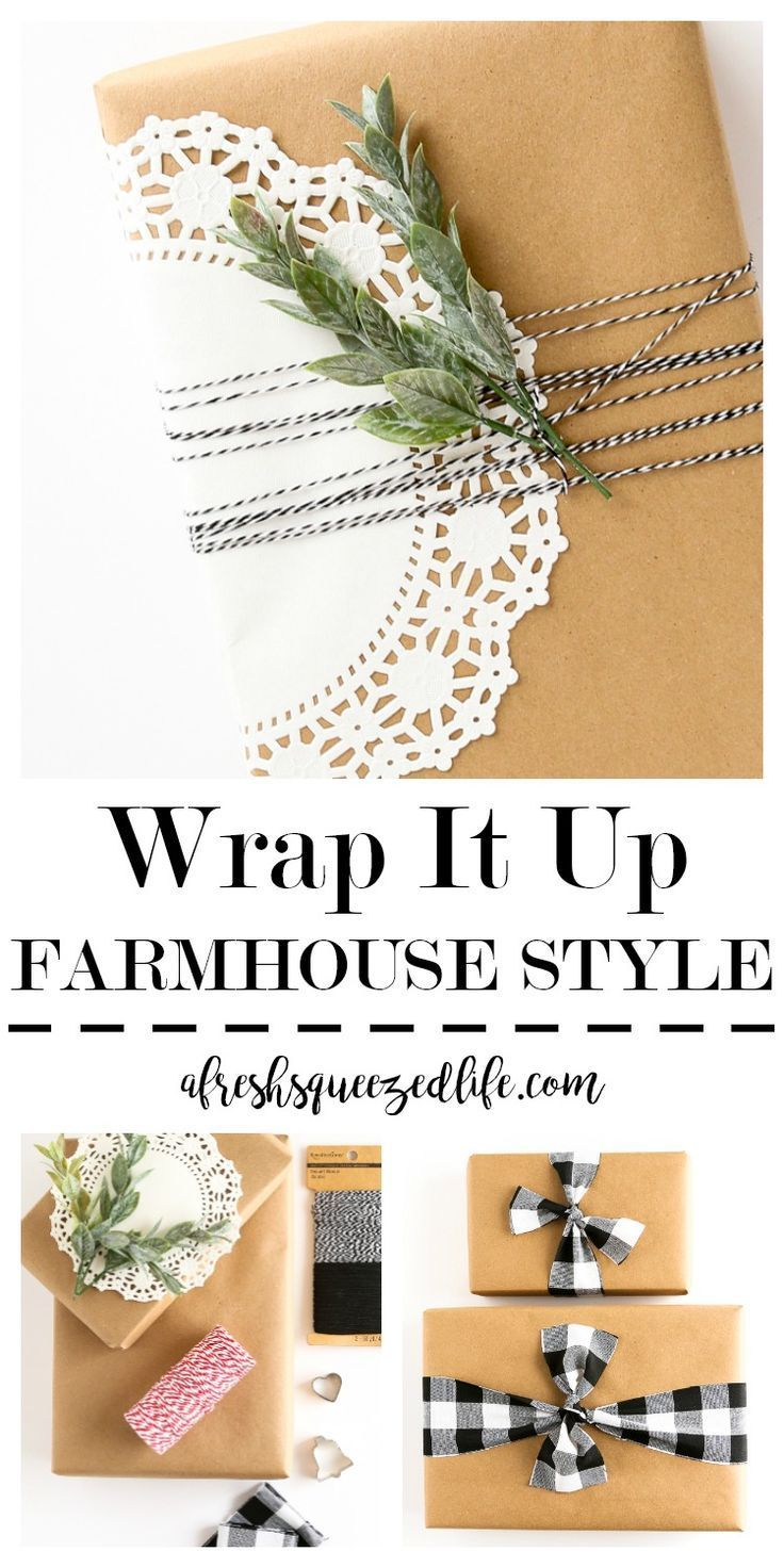 Farmhouse Style Gift Wrap Diy Holiday Gifts Easy Handmade Gifts Style Gift