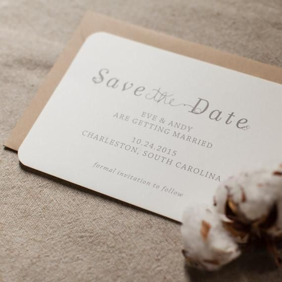 Rustic Save the Date Cotton Plantation Wedding Barn WeddingsSweet and simple save the date with a cotton motif. Perfect for a Southern or outdoor wedding with a